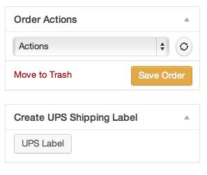 WooCommerce UPS label printing